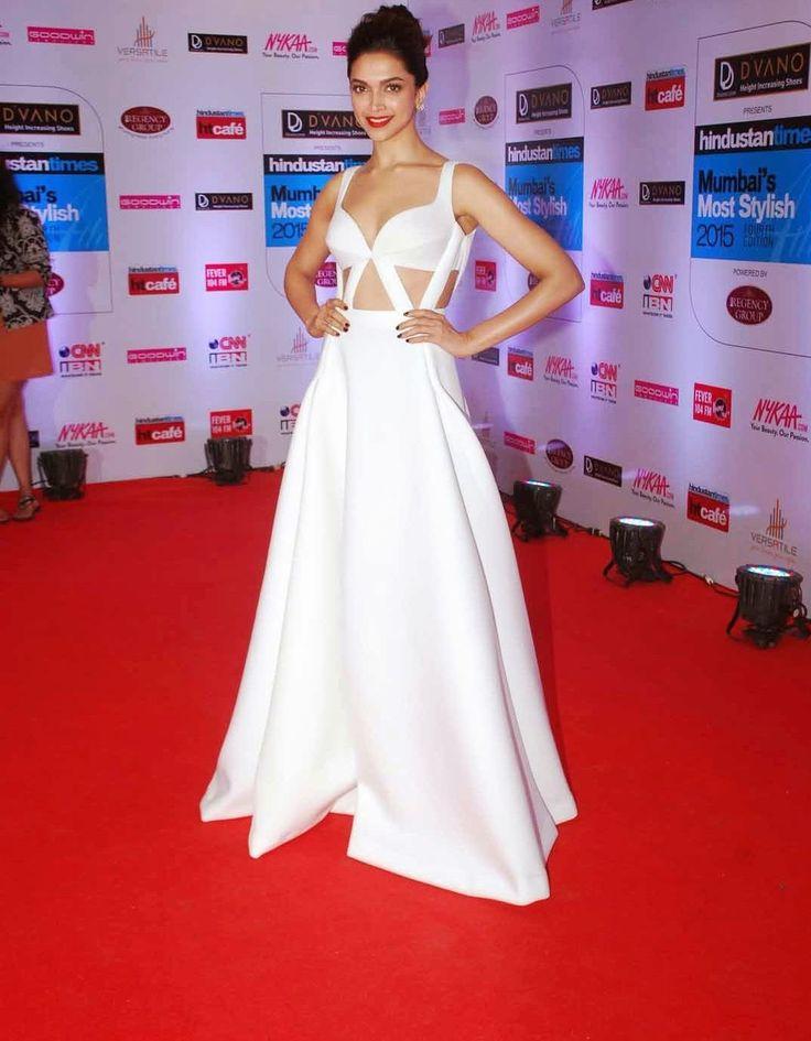 Deepika Padukone white gown, white dress, navel show stills.