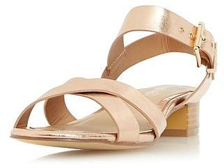 Womens rose gold head over heels nadie sandals from Dorothy Perkins - £38 at ClothingByColour.com