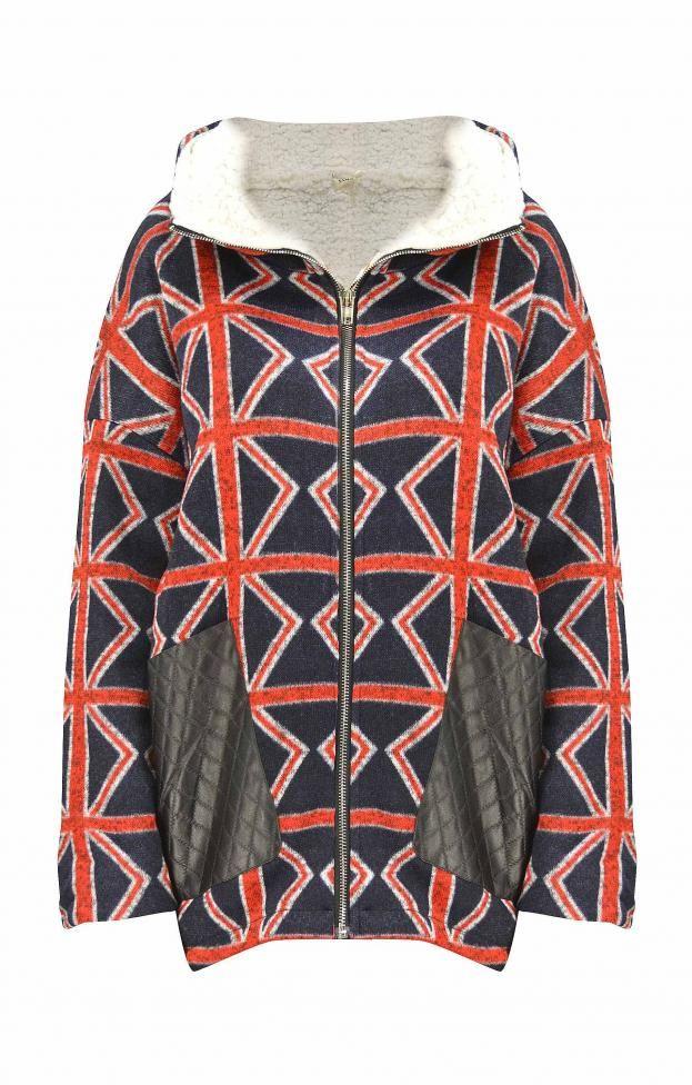 Γυναικείο μπουφάν με τύπωμα | Γυναίκα - Nέες Παραλαβές | Metal Μπλε σκούρο