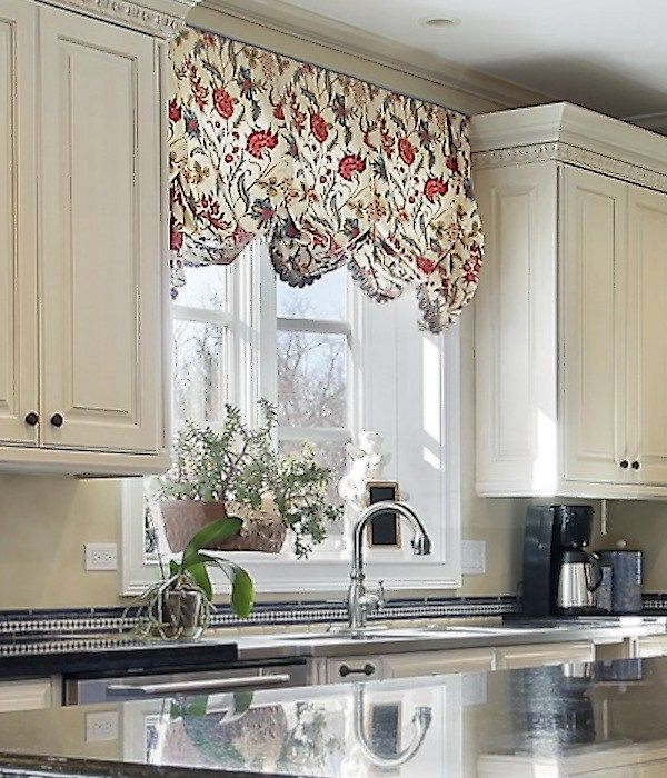 Floral Jacobean Valance Kitchen Sink 15 Tips To Follow For Your Next Custom Balloon Valance Modern Kitchen Valance Kitchen Window Treatments Kitchen Valances