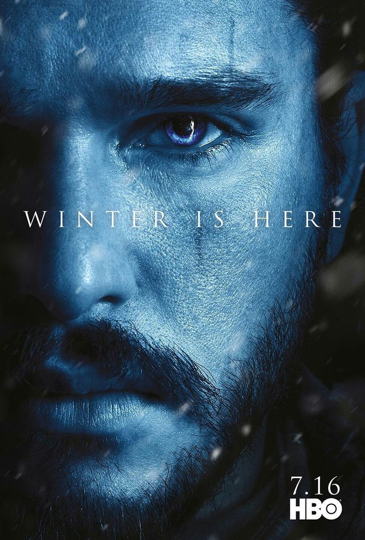 #winter is here - Jon Snow promo poster. Game of thrones season 7