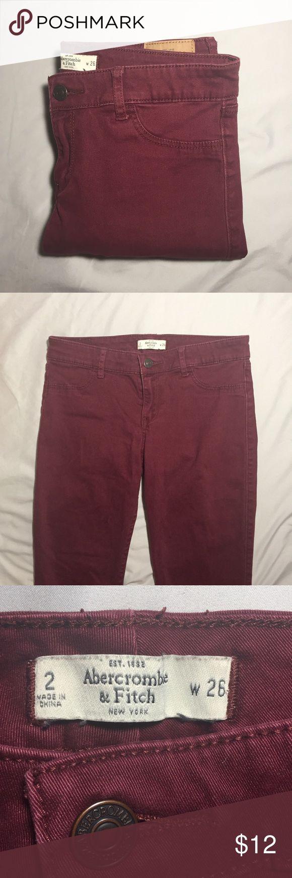 Abercrombie & Fitch maroon skinny jeans Abercrombie & Fitch maroon skinny jeans Abercrombie & Fitch Pants Skinny