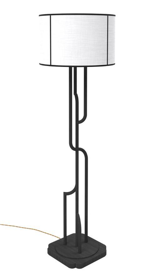 Akar De Nissim S Iconic Art Deco Floor Lamp Gatsby With A Black And White 灯具 Pinterest Lighting