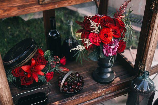 Пленительный цвет Марсала, флористика - The-wedding.ru