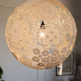 Upcycled Doily Lamp. How does this work?