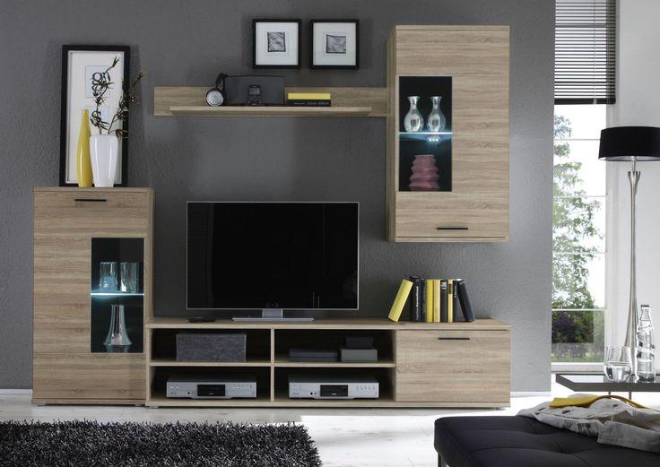 Die besten 25+ Wohnwand sonoma eiche Ideen auf Pinterest Tv wand - wohnwand wei modern
