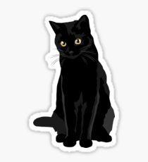 Black Cat Pegatina