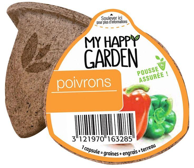 Capsule prête à planter Poivron - My Happy Garden