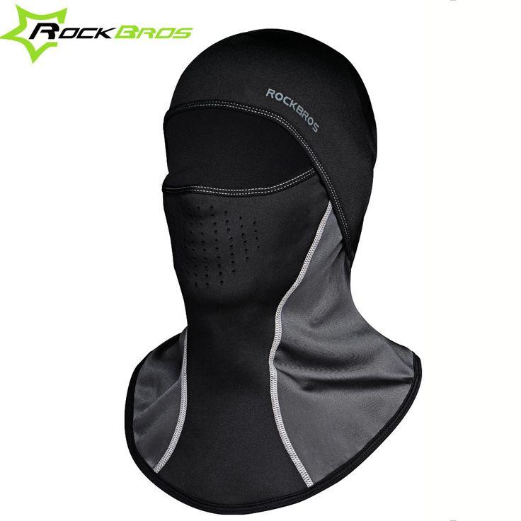 ROCKBROS Sepeda Headwear Leher Bulu Sepeda Topi Syal Balaclava Musim Dingin Termal Tahan Angin Hangat Masker Motor Sepeda Pelindung Wajah