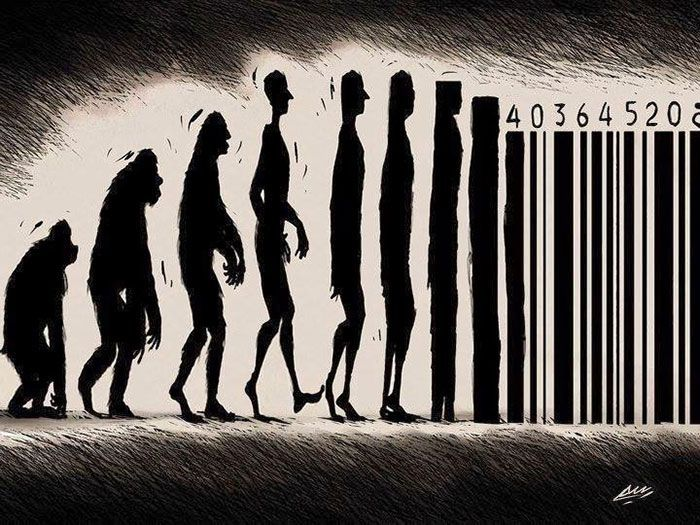 illustrations satiriques qui dépeignent avec humour l'évolution discutable de l'Homme