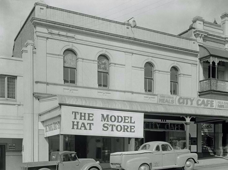 Rose's Emporium, now City Cafe and The Model Hat Store, 1950's