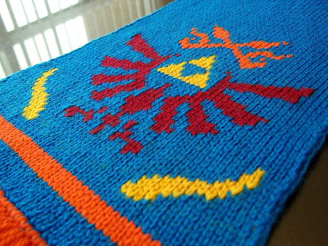 Legend Of Zelda Knitting Pattern : Ravelry legend of zelda link s hyrule warriors scarf