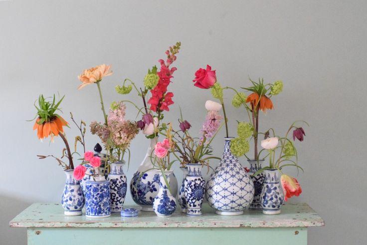 Wat hebben we een weekend achter de rug met prachtig weer zeg! Ik heb er echt volop van genoten en zoveel mogelijk buiten gezeten! Maar nu is het weer tijd voor een vrolijke bloemen blog :)