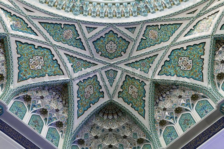 Editorial image of 'Beautiful decoration in Grand Mosque of Muscat, Oman'