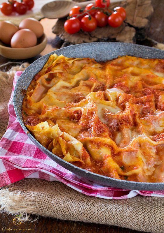 Lasagne senza forno ricetta semplice http://blog.giallozafferano.it/graficareincucina/lasagne-senza-forno-ricetta-semplice/