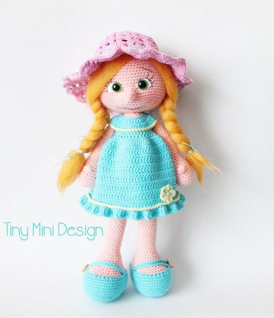 Amigurumi Mavi Elbiseli Bebek-Amigurumi Blue Drees Doll | Tiny Mini Design