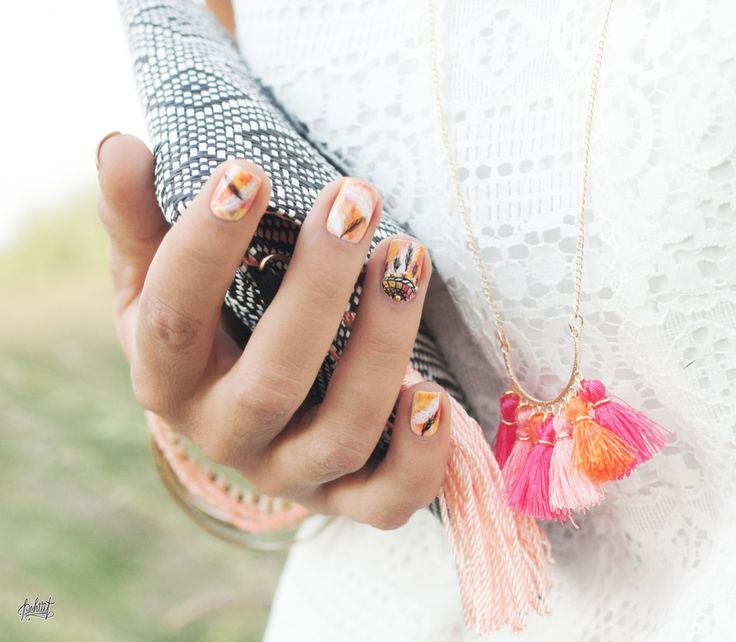 Nail art inspiration boheme chic dreamcatcher