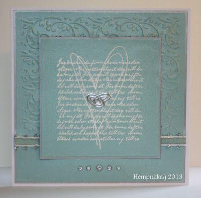 turquoise wedding card