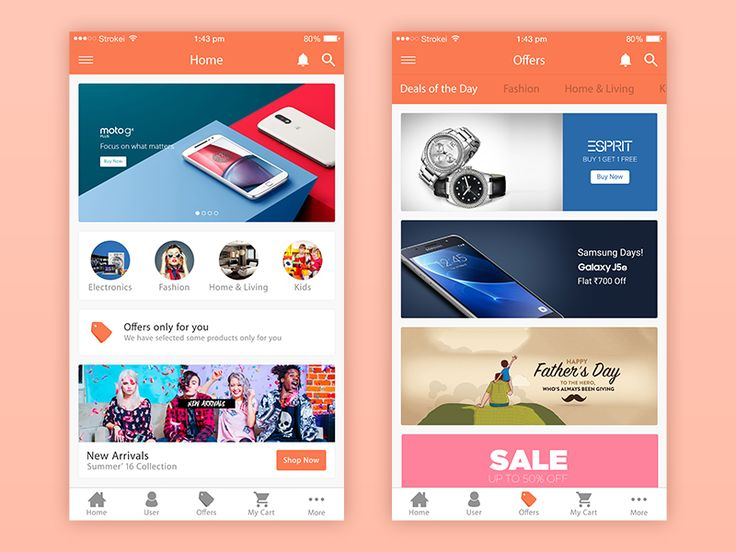 eCommerce+App+UI+Free+PSD