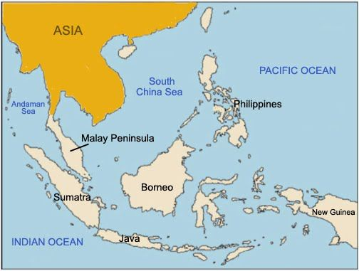 Peninsula In Europe Map.Malay Peninsula On World Map Related Countries Islands Quickgs