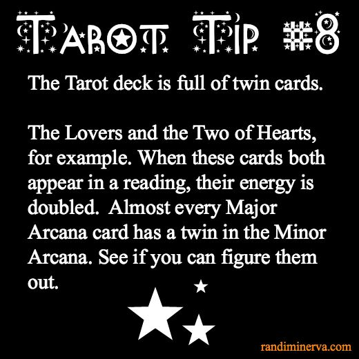 Tarot Tip #8: Twin Cards