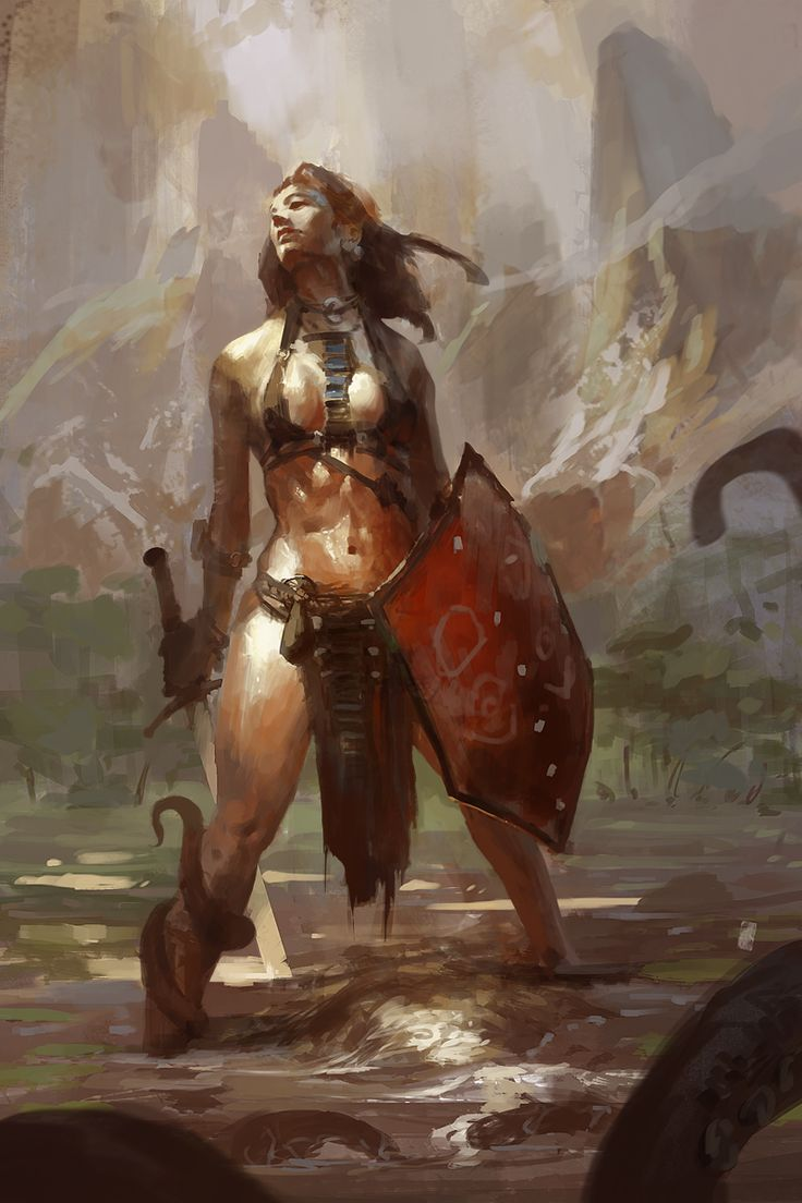 sali by ~0BO on deviantART [ female, barbarian, warrior ]