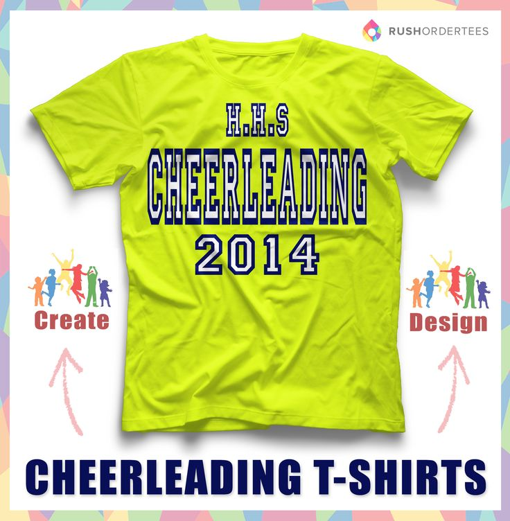 17 best images about cheerleading t shirt design idea 39 s on for Single order custom t shirts