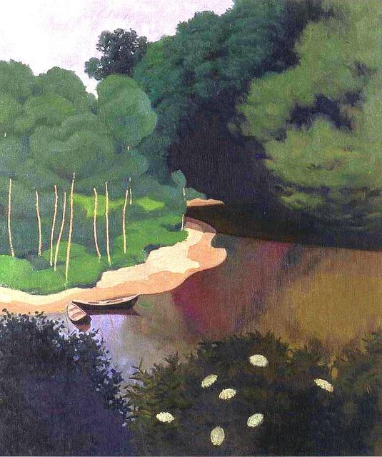 Vallotton, Felix (Swiss, 1865-1925) - The river Dordogne at Carennac - 1925