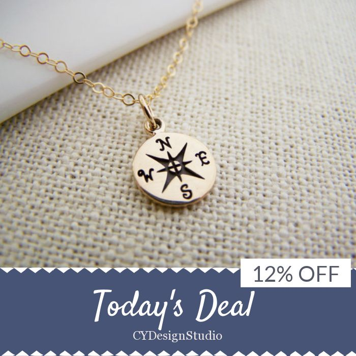 Today Only! 12% OFF this item.  Follow us on Pinterest to be the first to see our exciting Daily Deals. Today's Product: Compass Necklace - Gold Compass Necklace - Lost Without You Compass Tiny 14k Gold Filled Necklace / Gift for Her Buy now: https://small.bz/AAcFmZe #etsy #etsyseller #etsyshop #etsylove #etsyfinds #etsygifts #musthave #loveit #instacool #shop #shopping #onlineshopping #instashop #instagood #instafollow #photooftheday #picoftheday #love #OTstores #smallbiz #sale #dailydeal…