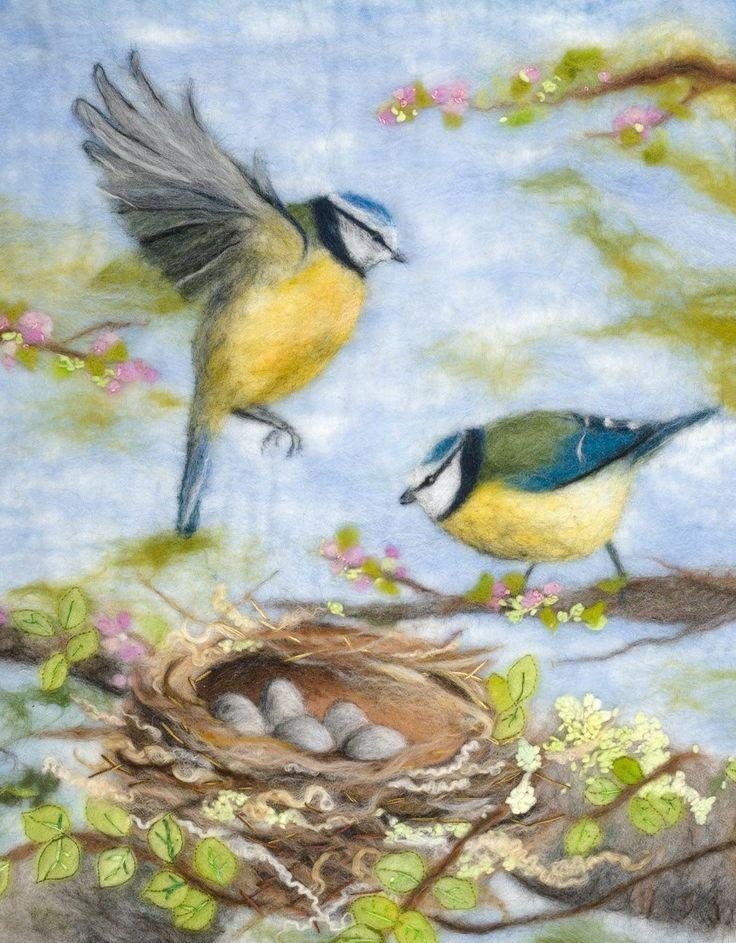 'Anticipation', original felt 'painting' by Shona Cammack