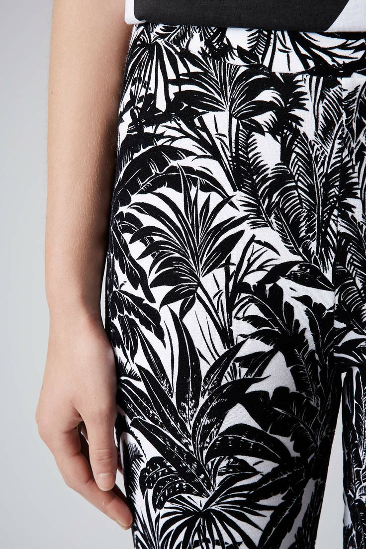 Keep your legs a bit warmer and swap your leggings for treggings. Not only are they thicker but they also come in some marvellous monochrome prints in Topshop at the moment.
