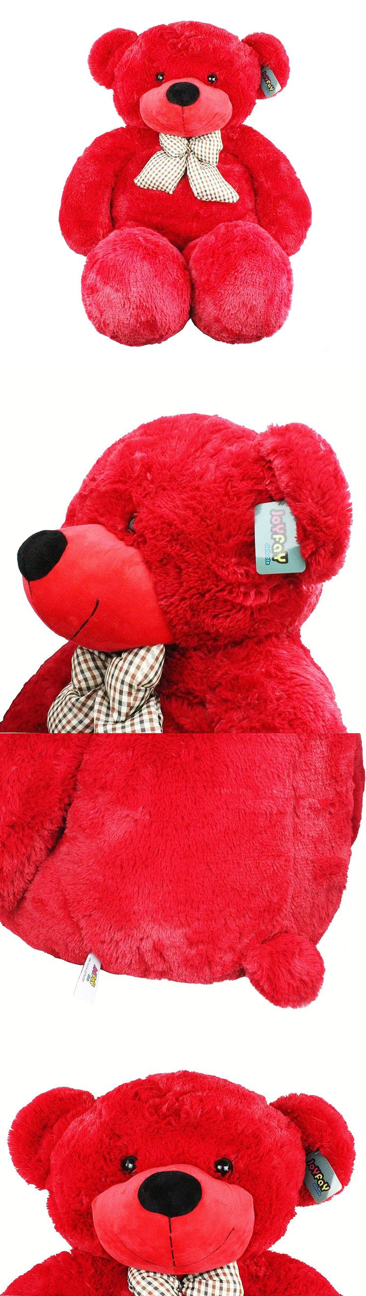 Other Stuffed Animals 230: Joyfay® Red Giant Teddy Bear 47 120Cm Stuffed Toy Birthday Gift -> BUY IT NOW ONLY: $62.29 on eBay!