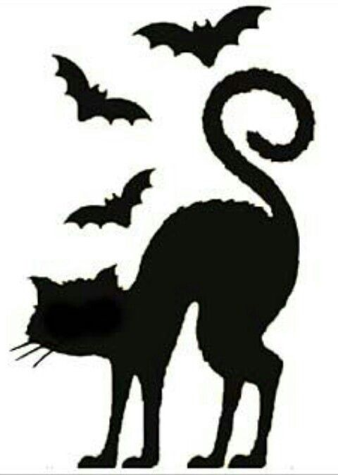 44 spooky cat pumpkin stencils youll love carving this halloween - Black Cat Silhouette Halloween
