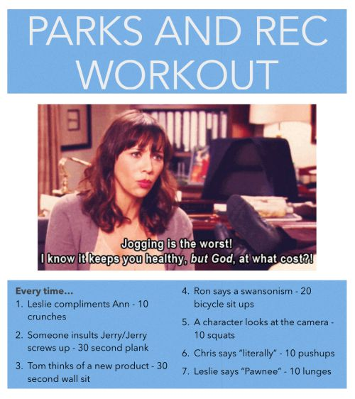 parks and rec workout - Google Search