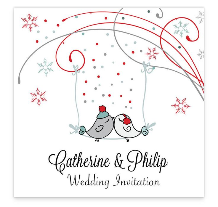 The Winter Romance flat wedding invitation is perfect for a winter wedding with its romantic winter wonderland theme. The design focuses on two love birds perched on a branch amidst the frosty winter weather. You can purchase a separate RSVP Card to accompany this invite or include your rsvp details on the invitation.