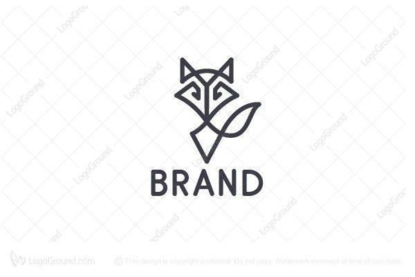 Logo for sale: Minimal Fox Logo