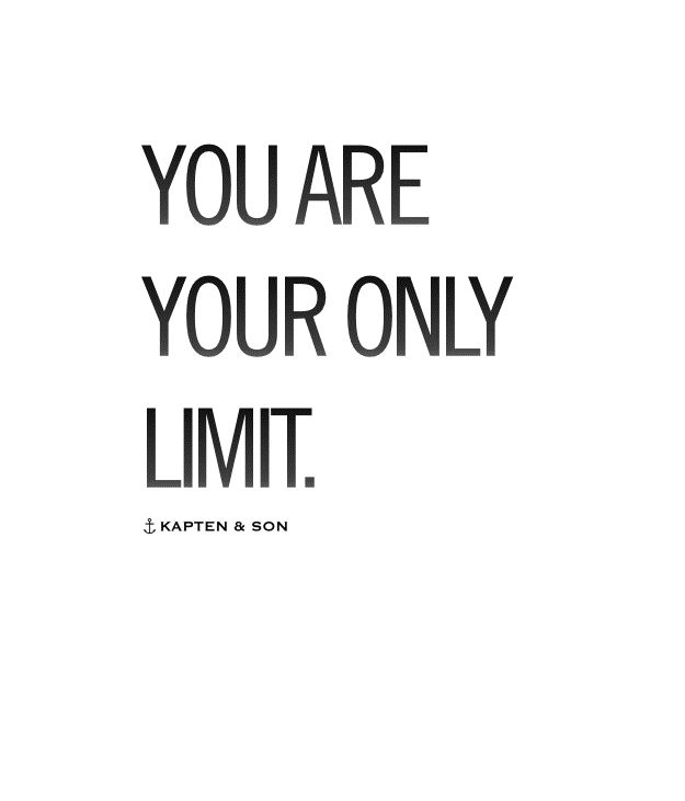 you are your only limit | quote