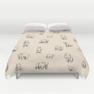 Bears Duvet Cover by Leah Reena Goren