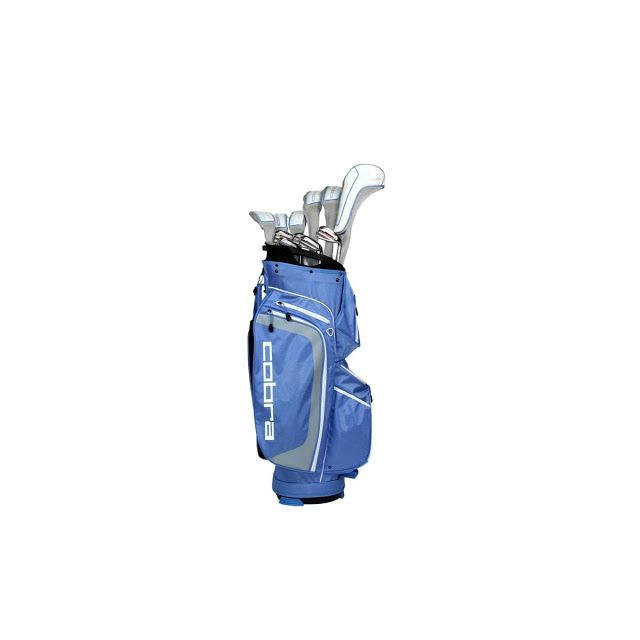 Cobra Golf Clubs for women.  The Women's MAX Complete Set by Cobra features a full set of easy to hit MAX clubs to maximize your distance and forgiveness, plus a high quality cart bag that has lots of pockets for storing everything you will need for your game.