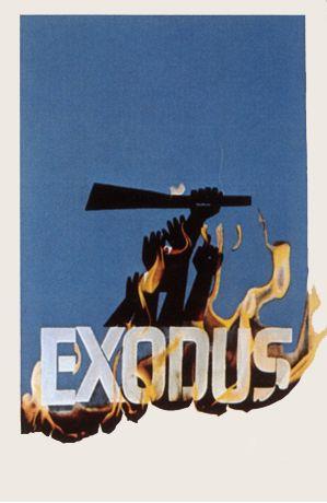 by Saul Bass, Exodus,1 9 6 0.