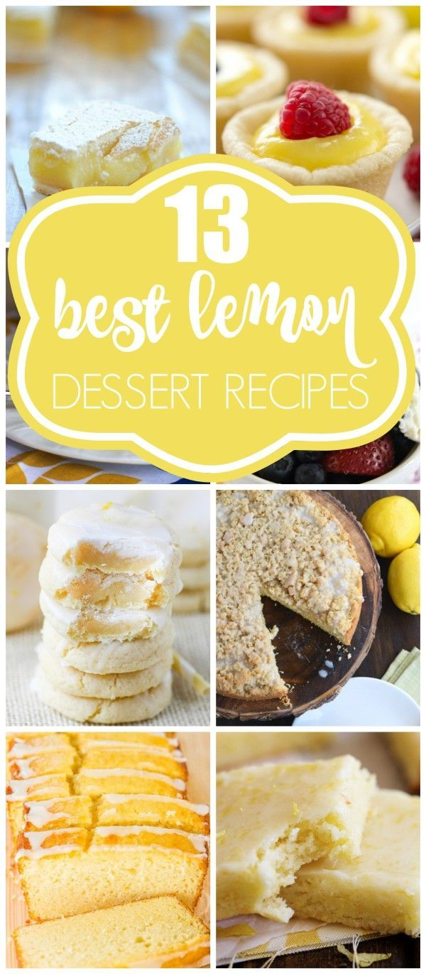 13 BEST Lemon Dessert Recipes for Spring and Summer on prettymyparty.com.