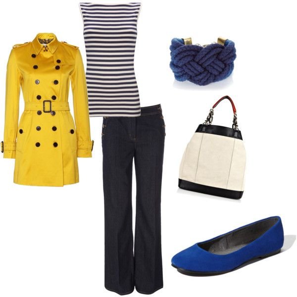 Stripes and a pop of color, great for the graphical trend