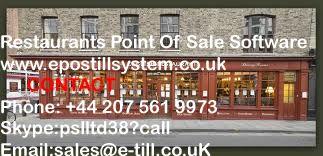 Restaurants Point Of Sale Software  :::::::::::::  http://epostillsystem.co.uk