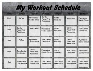 Insanity Month 1 Printable Calendar | Get Fit | Insanity ...