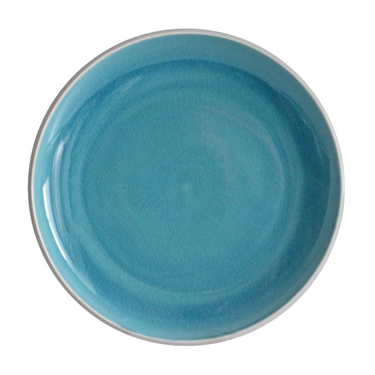 This Portel Teal dinner plate, in a cheery shade of teal, will provide a pop of color your table.   Dishwasher and microwave safe.