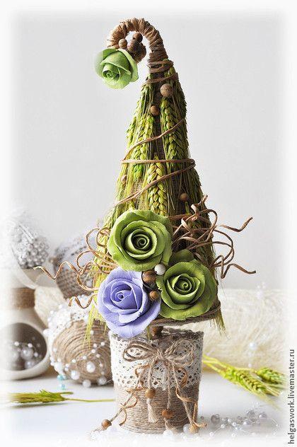"""Эко ёлочка """"Царица Яшма"""". Handmade."""