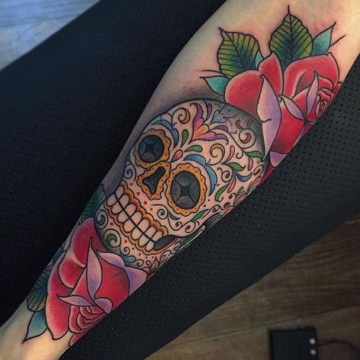 Animal sugar skull tattoo - photo#29