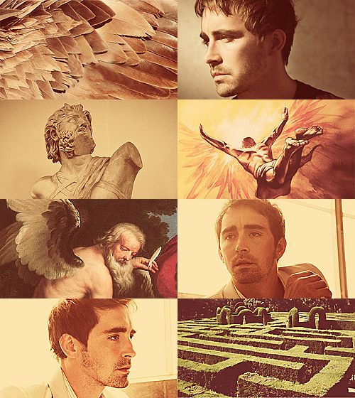 Greek Mythology Dreamcast - Lee Pace as Daedalus Here, in Sicily, stiff on its scorching sand, sits a very old man, capable of transporting himself through the air, if robbed of other means of passage. All his life he was building something, inventing something. All his life from those clever constructions and from those inventions, he had to flee. (x)  (suggested by baronessofmischief)