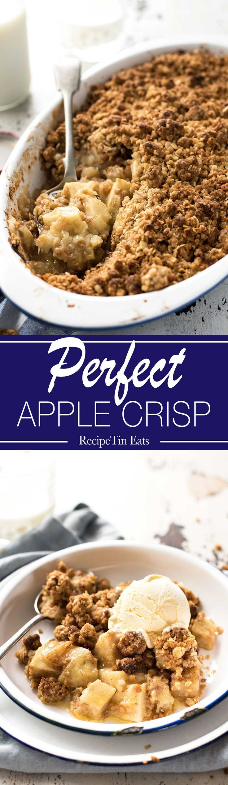 Apple Crisp (Apple Crumble)   FINALLY!!! A recipe with a topping that is ACTUALLY CRISP!!!