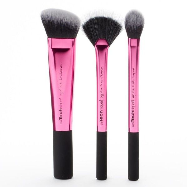 Real Techniques 3-pc. Makeup Brush Sculpting Set (Pink) (930 PHP) ❤ liked on Polyvore featuring beauty products, makeup, makeup tools, makeup brushes, beauty, fillers, accessories, brush, pink and fan makeup brush